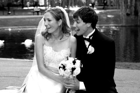 Cliched wedding photo